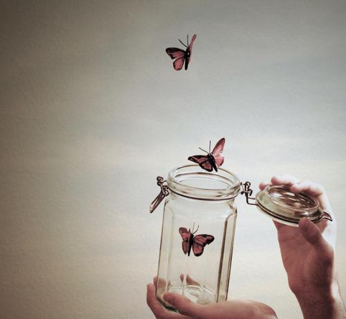 soltando mariposas